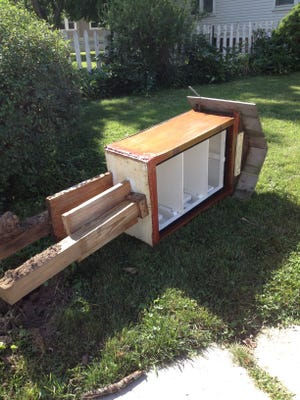 Vandals removed the books and uprooted the Little Free Library at 40th and Illinois streets.