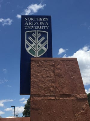 NAU sign at the Flagstaff campus in May 2017.