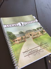 Lucas estate event menu.