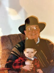 Harmon Roy with grandson Michael Roy.