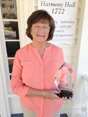Sharon Kimrey was presented the Reginal Stroud Lifetime Achievement Award, this month by the Lenoir County Historical Association, which operates historic Harmony Hall, located at 109 E. King Street in Kinston. Kimrey had been president of the Association for the past three years. She lead many great events at Harmony Hall, the annual Sunday Brunch, July 4th Swearing-in Ceremony and the Christmas celebration.  All of the work was volunteer and much time was spent on the job.  The Covid-19 has now placed a hard time on Harmony Hall, because no events can be handled there.