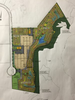 An architectural design of a proposed motocross in Tinton Falls.