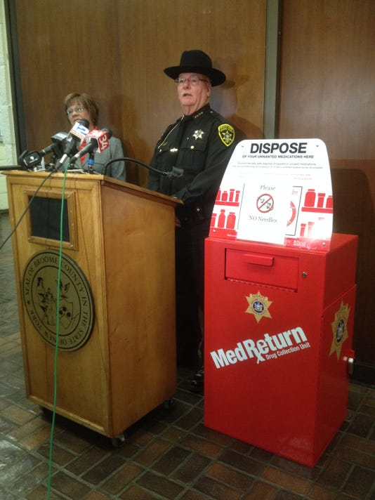 cvs grant funds broome prescription drug drop off box