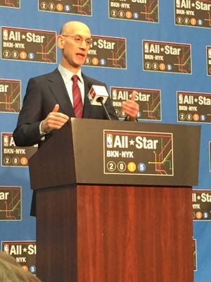 NBA commissioner Adam Silver addressed the media on Saturday, Feb. 14 during NBA All-Star Weekend