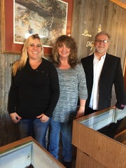 From left are Paradise Jewelers owners Shanna Robinett,