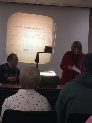 A town hall meeting was held at the Galion Public Library Tuesday evening to discuss the placement of an issue on the November ballot that will allow Galion residents to receive refunds on overpayments made on their electric bills.