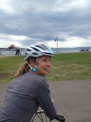 Emily Boedecker, executive director of the non-profit Local Motion in Burlington, pictured in 2014. Boedecker has been hired as Vermont's next commissioner of environmental conservation.