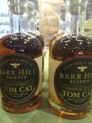Tom Cat gin made by Caledonia Spirits is Barr Hill gin aged in a barrel. It was for sale Saturday at the Burlington Farmers Market.