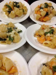 In 90 minutes, sixth-graders at Sharon Elementary School prepared and plated this pasta dish that won the mis en place award in the morning heat Saturday at Junior Iron Chef at the Champlain Valley Exposition. The students said cooking at school is fun, interesting and creative. But competitions can be nerve-wracking and stressful, they said.