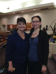 Unity Church if Christ Musical Director Missy O'Brien and Adath Emanu-El Cantorial Soloist Sandra Messinger.