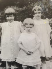 Frederika Allen Albee, at right, with her sisters Jane,