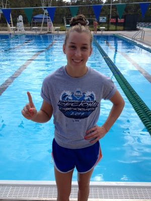 Cape Coral High senior Megan Galbreath won the Class 2A diving championship Saturday in Stuart.