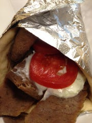 The gyro sandwich has lean meat and a nice balance of toppings at Nelly's Taste of Greece in the Nicholas Retail Center at 290 Nicholas Parkway, just north of Pine Island Road.