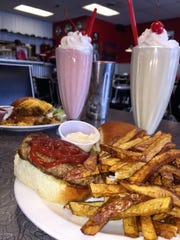 The burger and shakes at the Wolfer's Diner of Havre are fresh and flavorful.