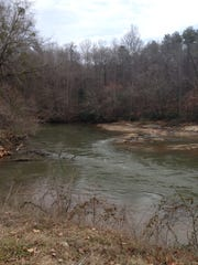 The Saluda River at the landing.