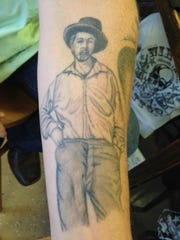 "David Zollo's first tattoo eight years ago was an image of ""Leaves of Grass""-era Walt Whitman."