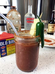 Do you like it extra spicy? Try the Kung Fu Bloody Mary containing Absolut Peppar vodka. Old Bay seasoning rims the glass.