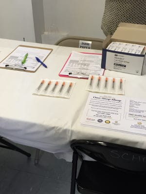 Nearly 100 people have visited the needle exchange program at the Community Outreach Center in Austin, Ind. Earlier this week, Gov. Mike Pence extended for 30 days an emergency public health order that allows for a temporary needle exchange program.