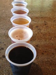 Stop 10: Samples of beer at Indiana City Brewing.