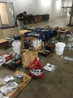 Some of the contraband recovered in a spice seizure in south Jackson Thursday that netted around $8 million in synthetic cannabinoids.