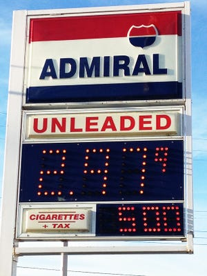 The Admiral station on Kalamazoo Street on the east side of Lansing is one of the area stations that selling gas below $3 a gallon.