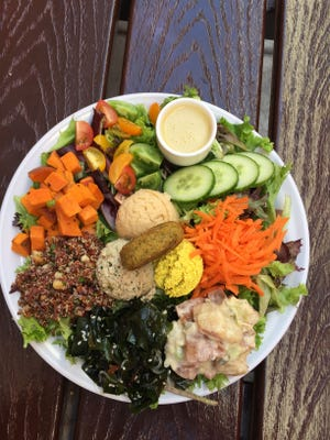 Palm Greens Cafe is also known for its organic salad sampler.
