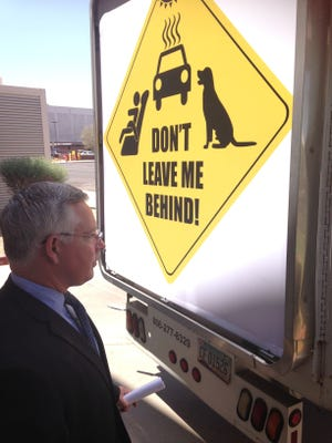 Maricopa County attorney Bill Montgomery responds to new hot car death billboard truck.