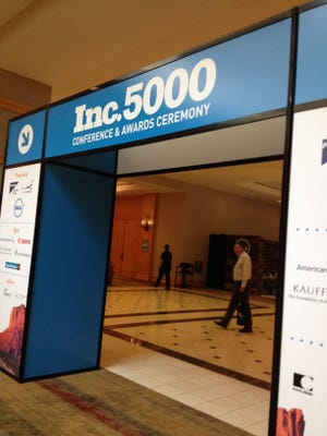 The annual Inc. 5000 Conference and Awards Ceremony this week was held at the JW Marriott Phoenix Desert Ridge Resort & Spa to celebrate the nation's fastest growing companies.