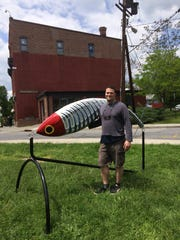 Geoff Feder's Crippled Yeti is among the 3-D works on display in Beacon.