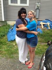 Christina Robertson with her daughter, Jennifer.