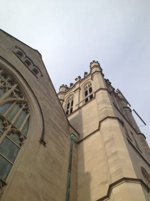 Reid Memorial Presbyterian Church, at North 11th and A streets, features Tiffany windows and furnishings, but its architectural significance is often overlooked by passing drivers.