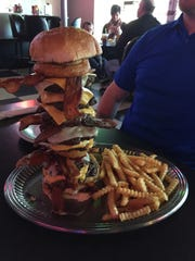 The Dave Burger Challenge featuring eight 1/3-pound