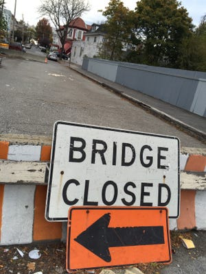 The South 10th Avenue Bridge over the New Haven Line tracks in Mount Vernon is closed, and is due to be replaced.