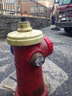 This hydrant across the street from 56 Groshon Ave. in Yonkers was found frozen on Jan. 14 after a fire broke out. Assistant Fire Chief Eddie Cuculo from Battalion 1 said at the time that the hydrant problem did slow firefighters down, but did not have an effect on the fire.