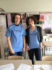 Ilana Goldstein, left, and Caitlin Smith are the co-editors in chief of the Criterion, Arsdley High School's literary magazine. They are raising money to print the magazine through a Kickstarter campaign.
