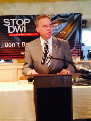 County Executive Ed Day at Rockland's DWI arrests ceremony