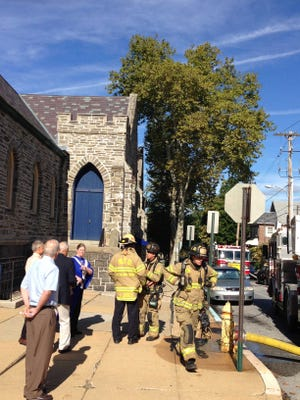 Wilmington firefighters responded about 9:15 a.m. Sunday to Westminster Presbyterian Church to deal with a malfunctioning boiler.
