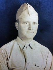 An undated photo of Tech. Sgt. Hugh Francis Moore, taken sometime after he enlisted in the Army in July 1942.