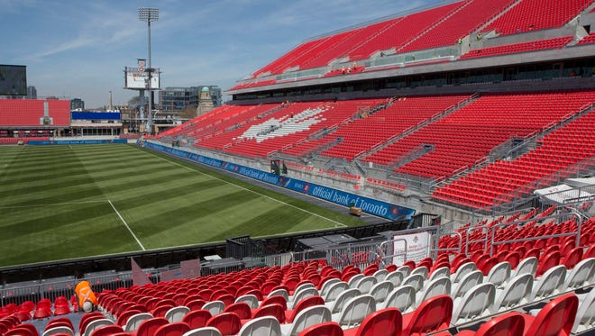 """BMO Field, where the Red Wings and Maple Leafs will play for the NHL's inaugural """"Centennial Classic"""" on Jan. 1, 2017."""