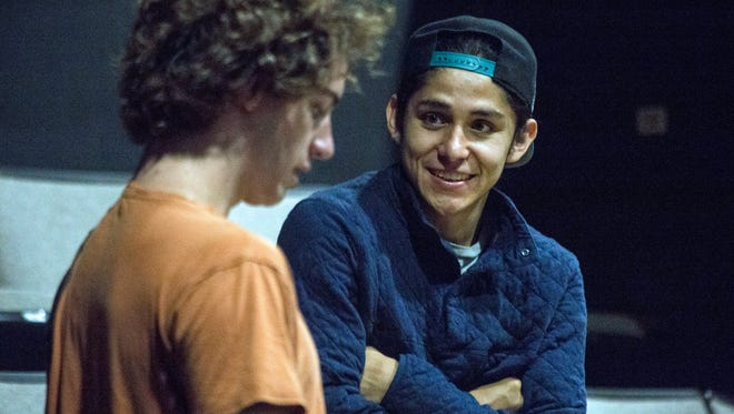 Andres Chaves and Sam Wisenden rehearse for the fist play of Actors Theatre of Louisville's New Play Project, undertaken by the theater's professional training company.