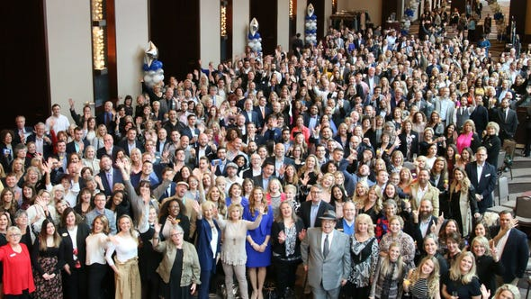 Nearly 400 of the 600 employees at Parks' annual meeting,