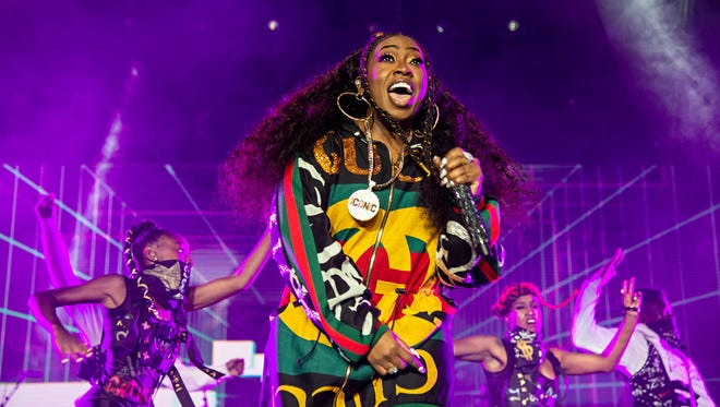 Missy Elliott performs at the 2018 Essence Festival at the Mercedes-Benz Superdome in New Orleans.
