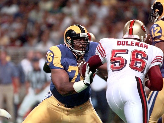 Rams tackle Orlando Pace kept the Rams' offense moving. (See what we did there?)