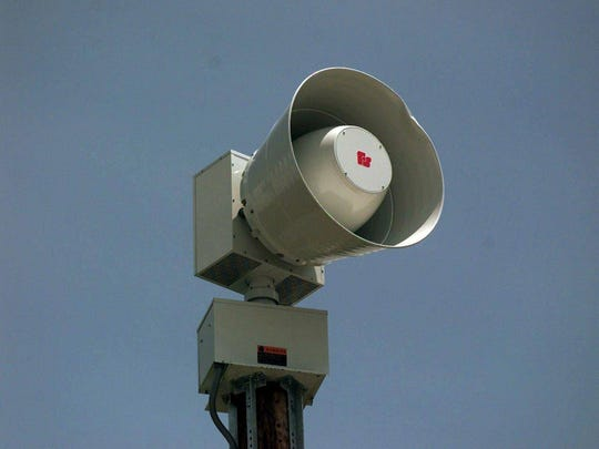 Storm sirens will be tested today.