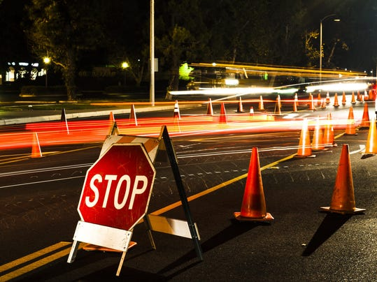 Stop here DUI checkpoint