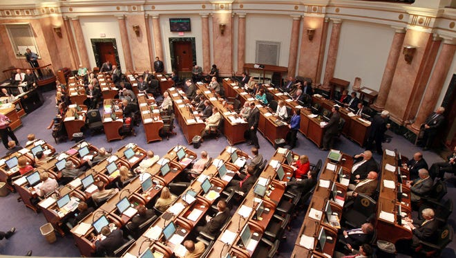 Overall view of the House Chamber in Frankfort.