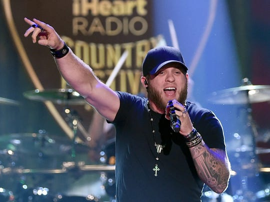 Brantley Gilbert performs during the 2015 iHeartRadio