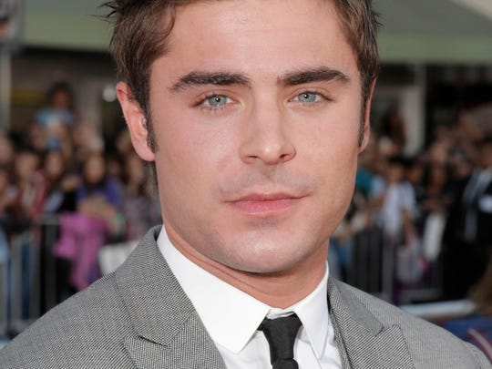 "Zac Efron arrives at the world premiere of ""Neighbors"""