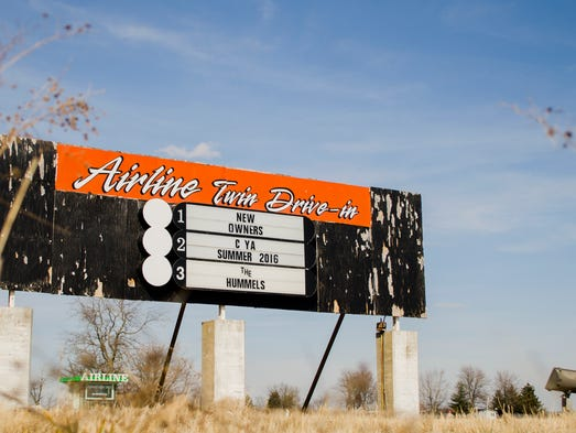The old Winchester-area Airline Twin Drive-In sits