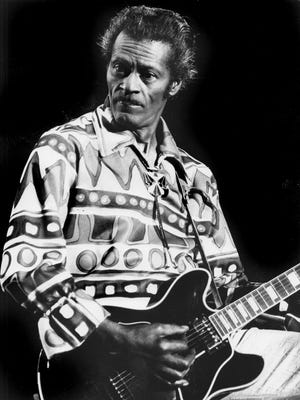 Chuck Berry performed a 75-minute concert following an Indiana Pacers game at Market Square Arena on April 8, 1985.